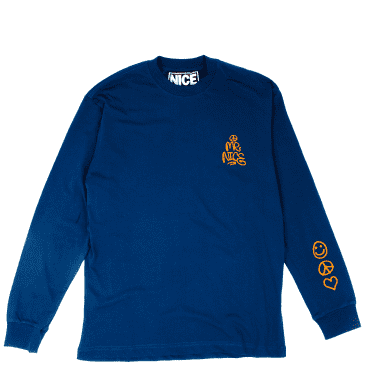 Mr Nice Support Your Local Dealer Long Sleeve T-Shirt - Navy