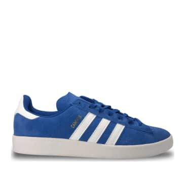 adidas Skateboarding Campus ADV Shoes - Collegiate Royal / Cloud White / Gold Metallic