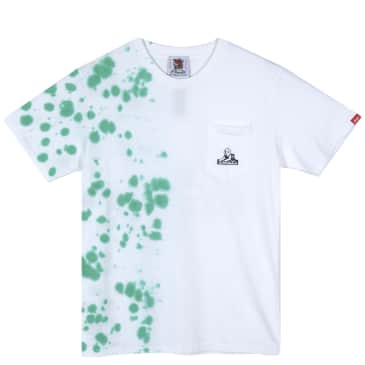 Jungles Jungles Sphynx Logo Speckled Tie Dye T-Shirt - White / Algae
