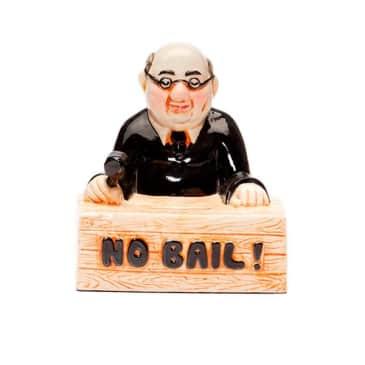 Central Booking Intl. - No Bail! Coin Bank - Full Colour