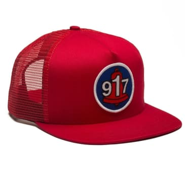 Call Me 917 Club Trucker Hat - Red