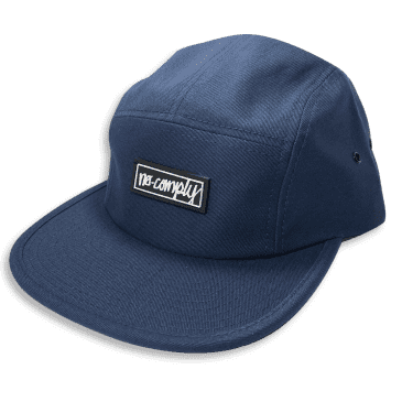 No-Comply Script Box Patch 5 Panel Hat Navy