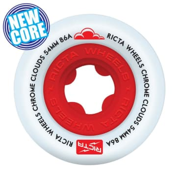 Ricta Chrome Clouds Red 86a Wheels - 54mm