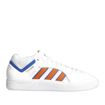 adidas Skateboarding Tyshawn Shoes - FTWR White / Orange / Royal Blue