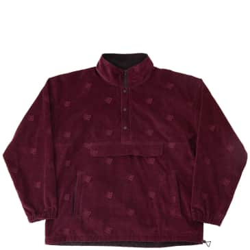 Bronze 56k Allover Embroidered Anorak - Maroon