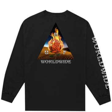HUF Ember Rose Triple Triangle Long Sleeve T-Shirt - Black