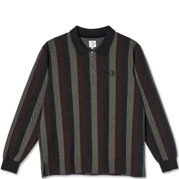 Polar Skate Co Jacques Long Sleeve Polo Shirt - Multi