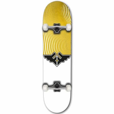 """Fracture Wings V4 Complete Skateboard   Yellow   8.00"""""""