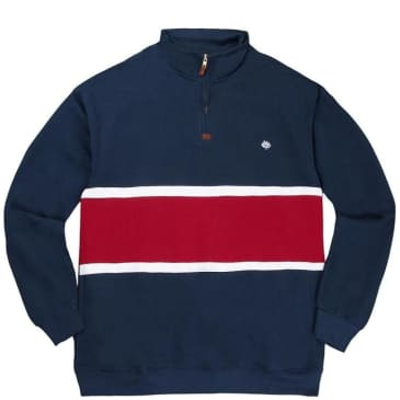Magenta Skateboards Team Club Zip Neck Crew Tricolor - Blue / White / Red