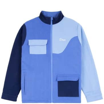 Dime Brushed Cotton Track Jacket - Blue