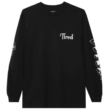 Tired Tired As Hell Long Sleeve T-Shirt - Black
