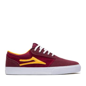 Lakai Griffin Suede Skate Shoes - Burgundy / Cardinal