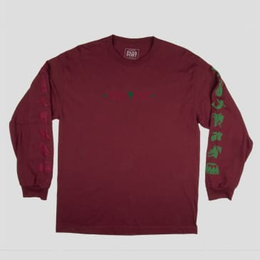 Pass~Port Life Of Leisure Long Sleeve T-Shirt - Maroon