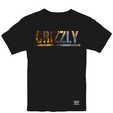 Grizzly Stamped Scenic T-Shirt (Kids) - Black
