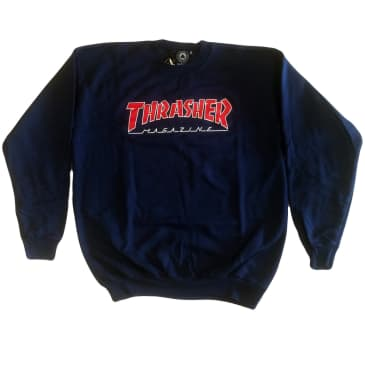 Thrasher Outlined Crew Neck Sweatshirt (Navy)
