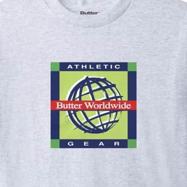 Butter Goods Athletic Gear T-Shirt - Ash Grey