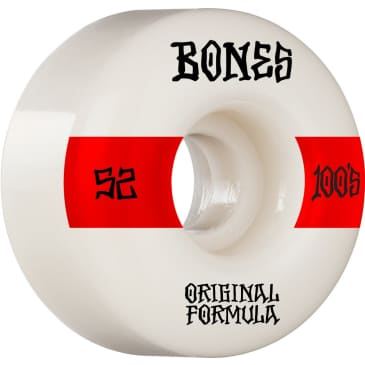 Bones 100's V4 Wide 52mm Wheels (White)