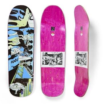"Polar Skate Co ""The Riders"" 1991 shaped Skateboard Deck 9.25"""