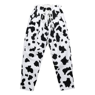 Monitaly Drop Crotch Pants - Cow Print