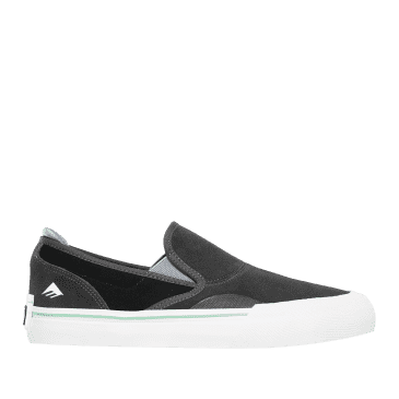 Emerica Wino G6 Slip On Skate Shoes - Dark Grey / Black