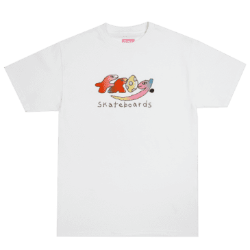 Frog Skateboards Original Dino Logo T-Shirt - White