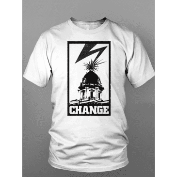 """Change - """"Banned in Downtown"""" Tupelo Courthouse Tee"""