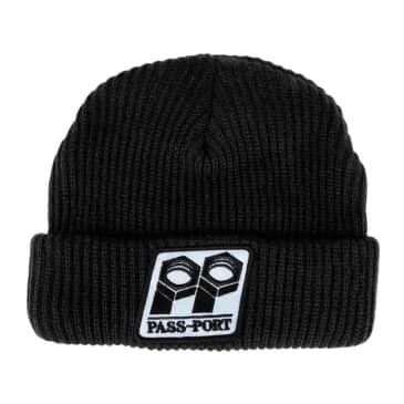 Pass~Port Bolt Patch Beanie - Black