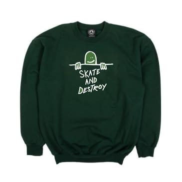 Thrasher - Gonzales Sad Logo Sweatshirt Forest Green L