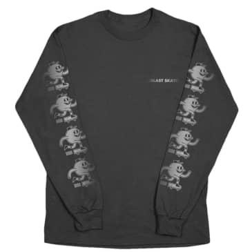 Blast Skates Shine Logo Long Sleeve T-Shirt - Black