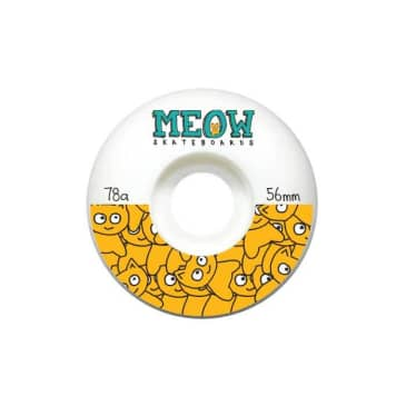 Meow Sticker Pile Split 78a Cruiser Wheels