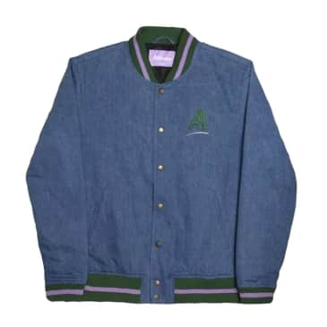 Alltimers - League Varsity Jacket - Blue Denim