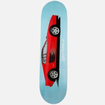 District 46 Fast Car Teal Skateboard Deck - 8.125