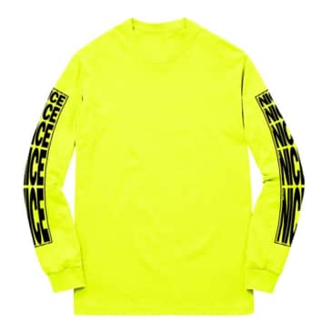 STRETCH LOGO LONGSLEEVE T-SHIRT - SAFETY YELLOW