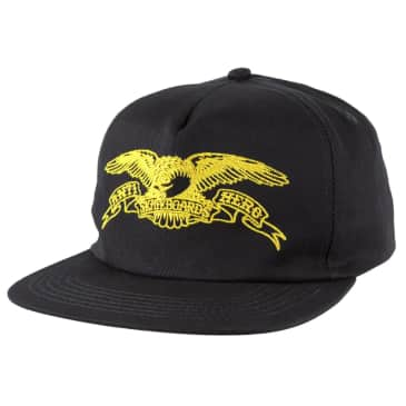 ANTIHERO Basic Eagle Snapback Hat Navy/Yellow