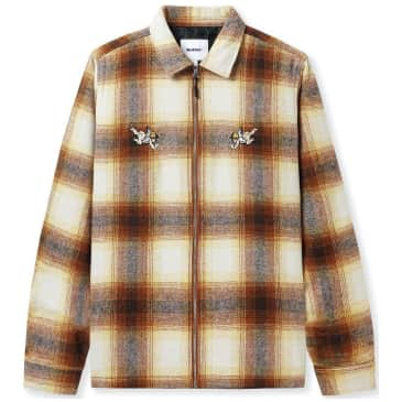 Butter Goods Angels Heavyweight Plaid Overshirt - Brown / Taupe