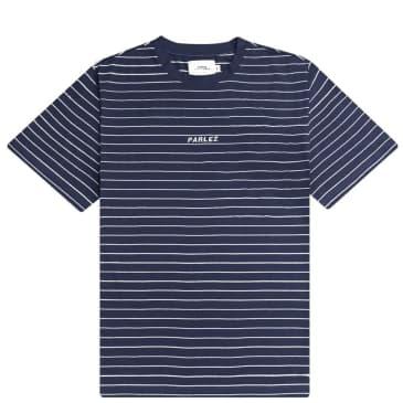 Parlez Ladsun Thin Stripe T-Shirt - Navy