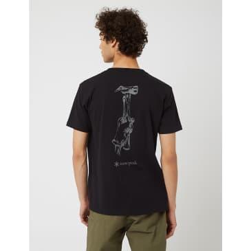 Snow Peak Peg & Hamer T-Shirt - Black