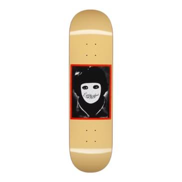 "Hockey No Face Yellow Skateboard Deck - 8.25"""