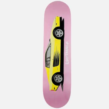 District 46 Fast Car Pink Skateboard Deck - 8.00