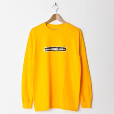 Skate Muzik Sucks Long Sleeve T-Shirt - Yellow