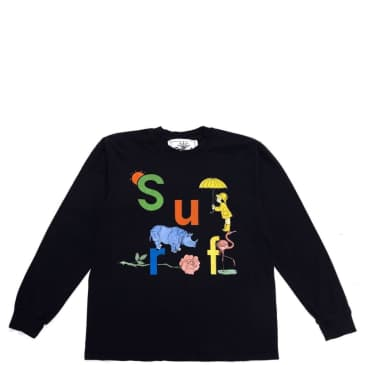 Surf Is Dead Rainy Daze Long Sleeve T-Shirt - Black