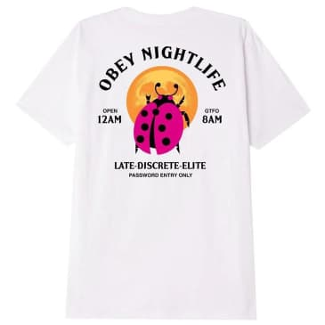 OBEY Buggin Out Nightlife T-Shirt - White