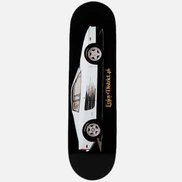 District 46 Fast Car Black Skateboard Deck - 8.25
