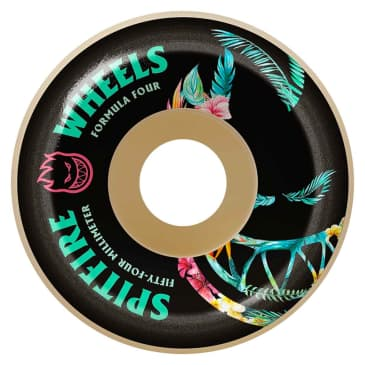Spitfire Formula 4 Floral Conical Wheels - (56mm)