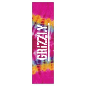 Grizzly Tie Dye Stamp Griptape Pink