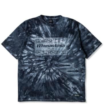 Manastash Tie Dye Leaf Logo T-Shirt - Black