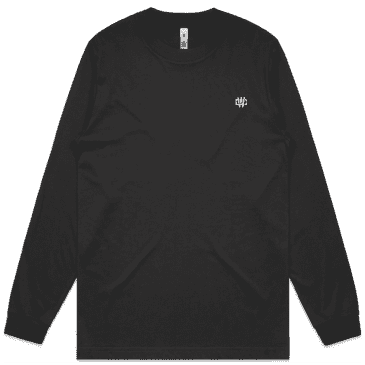 Working Class Monogram Embroidery Long Sleeve T-Shirt - Coal / Silver