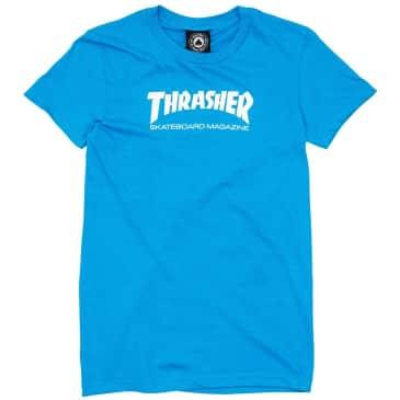 Thrasher Womens Skate Mag Logo T-Shirt - Blue
