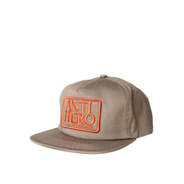 Anti Hero Reserve Patch snapback hat, brown/red