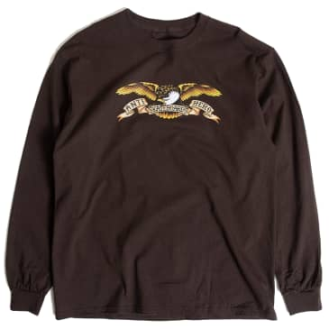 Anti Hero Eagle L/S Shirt (Dark Chocolate)